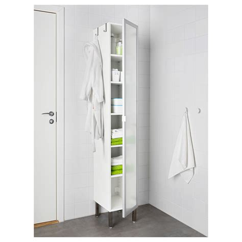 Lill 197 Ngen High Cabinet With 1 Door Aluminium 30x38x194 Cm Bathroom Storage Units Ikea