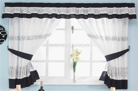 black and white kitchen curtains home trendy
