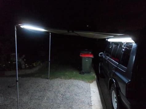 diy 4wd awning strip leds on awning 4x4earth