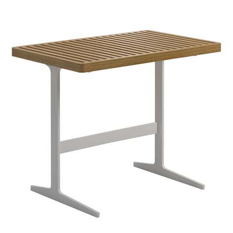 gloster grid lounge side table luxury outdoor living