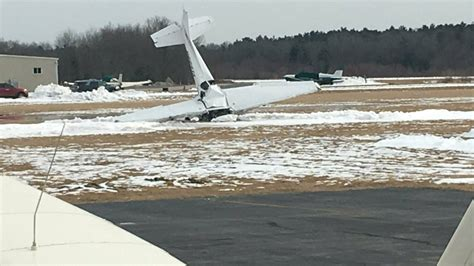 small plane crashes  airport catches fire  killed
