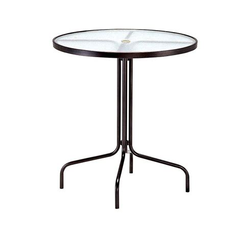 Acrylic Bar Table Tradewinds 36 In Java Acrylic Top Commercial Patio Bar Table Hd 8351m 2 The Home Depot