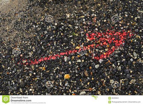 ghiaia rossa freccia rossa fotografia stock immagine di pietre ghiaia