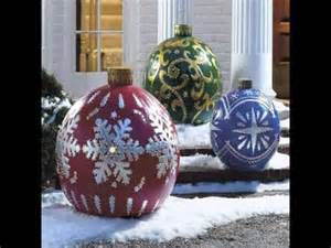 Outdoor Christmas Ornaments by Giant Bulb Outdoor Christmas Lights Ornaments Youtube