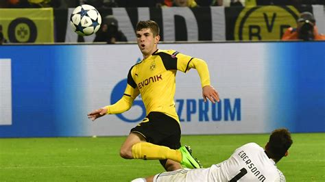 christian pulisic borussia christian pulisic borussia dortmund chions league