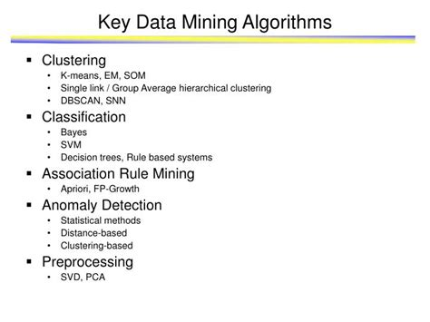 Algoritma Data Mining ppt scalable benchmarks and kernels for data mining and