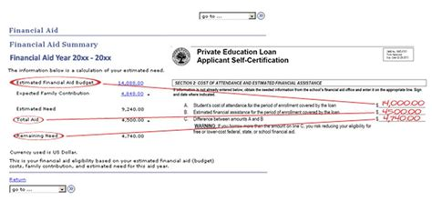 self certification letter direct loans alternative loan self certification form one stop ndsu