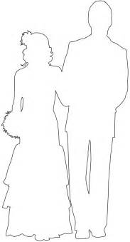 And Groom Outline Drawing by And Groom Silhouette Free Vector Silhouettes