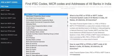 search bank through ifsc code how to find an ifsc code by using a bank account number