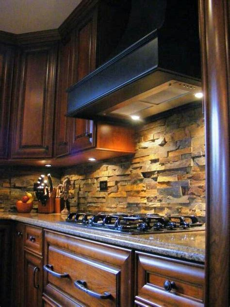 stacked stone kitchen backsplash stacked stone backsplash kitchen tile backsplash pinterest