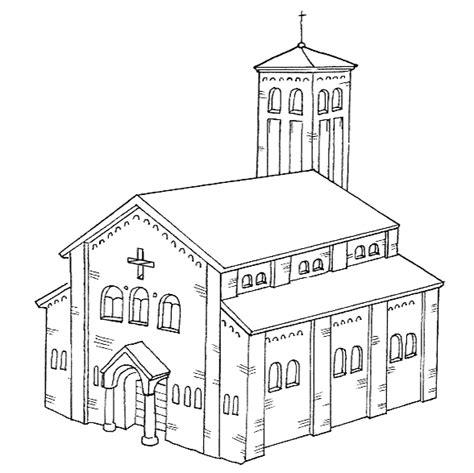 clipart chiesa chiese edificio da colorare chiese disegni chiese edificio