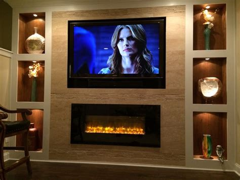 linear fireplace with tv above best 20 linear fireplace ideas on