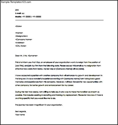 Termination Letter Format Notice Period 2 Weeks Notice Period Letter Template Pdf Format Sle