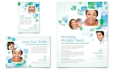 Orthodontist Flyer Ad Template Design Dental Postcards Templates