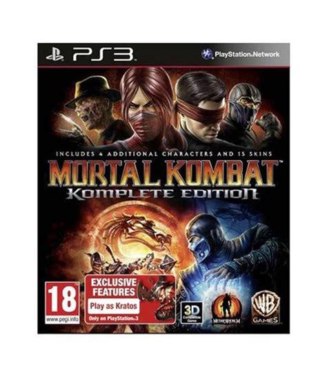 Mortal Kombat Komplete Edition Ps3 buy mortal kombat komplete edition ps3 at best price in india snapdeal