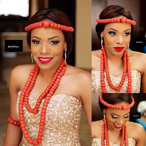 necklaces on traditional nigerian attires on the nigerian woman and her red coral beads isioma s