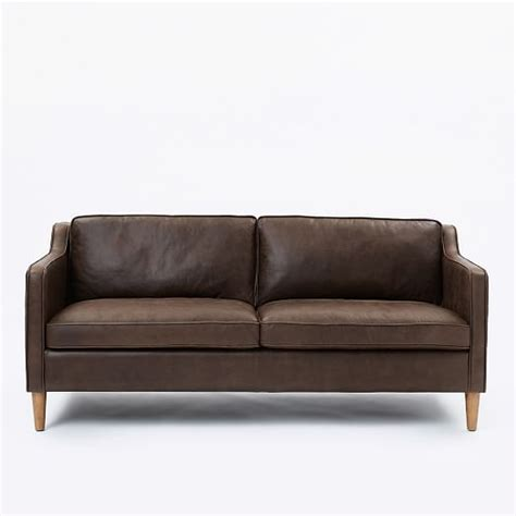 Hamilton Leather Sofa 68 Quot West Elm Hamilton Leather Sofa