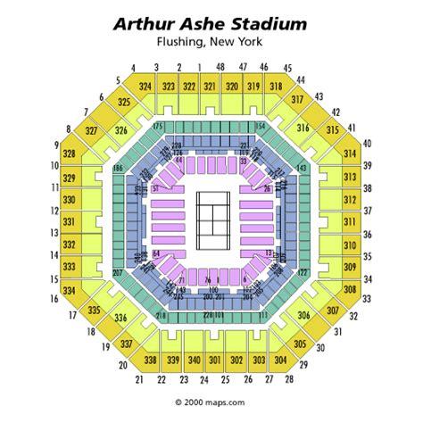 us open seating capacity us open arthur ashe stadium seating chart