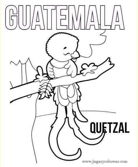 dibujos para pintar y colorear de guatemala dibujos para pintar y colorear de guatemala
