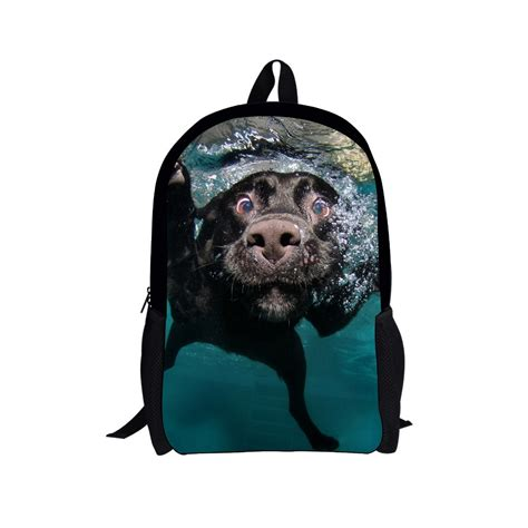 puppy backpack for school 3d animal printing backpack dinosaur backpacks for children