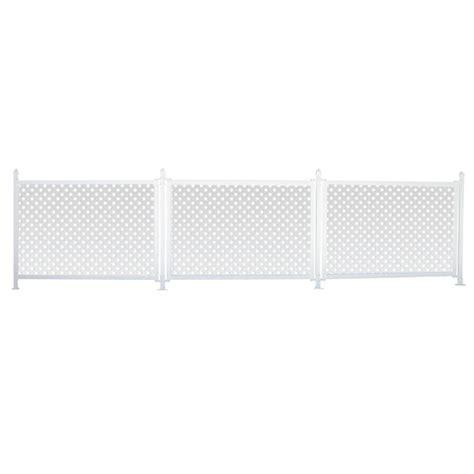 snapfence 3 ft x 13 ft white modular vinyl hinged fence