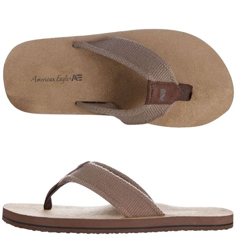 american eagle sandals mens mens brown american eagle flip flops sandals canvas