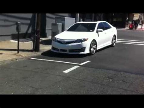 lowered 2012 toyota camry on highlander wheels youtube