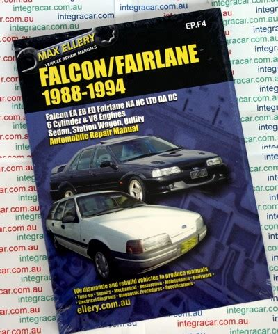 car repair manuals download 1994 audi v8 instrument cluster ford falcon fairlane ea eb ed repair manual 1988 1994 new sagin workshop car manuals repair