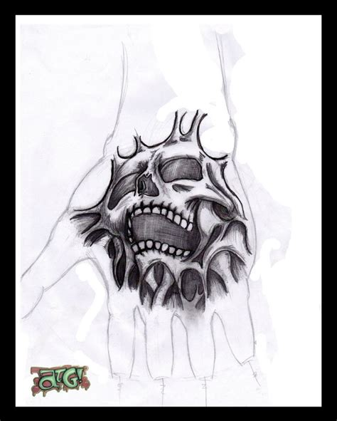 skull tattoo design for hand best tattoo designs