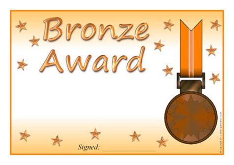 bronze certificate template follow us