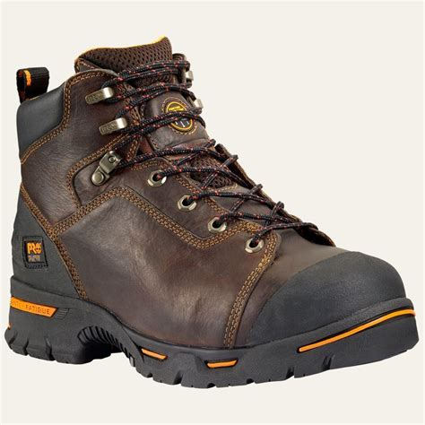 mens work boots timberland timberland pro boots mens endurance 6 quot steel toe brown