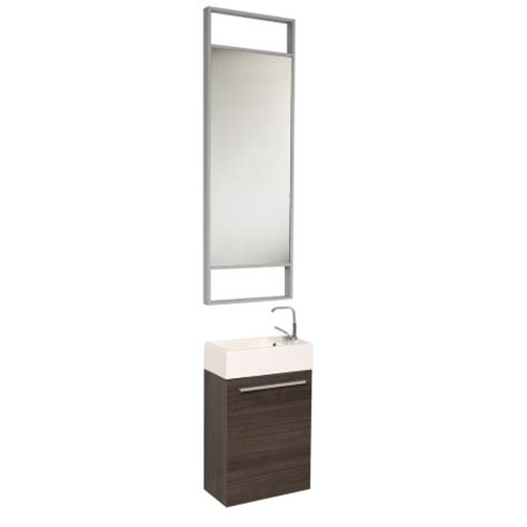 Vanity Mirror Size by 15 5 Inch Small Gray Oak Modern Bathroom Vanity With