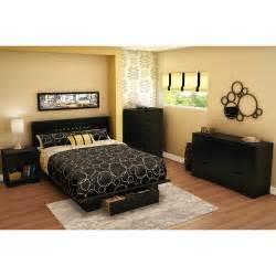 south shore holland full queen bedroom set pure black walmart com