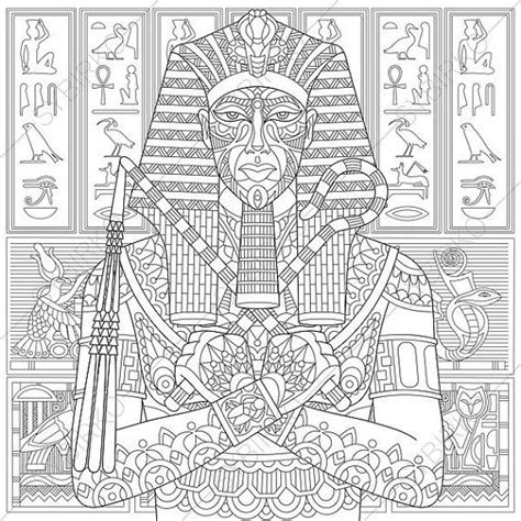 coloring pages of egyptian pharaohs egyptian pharaoh adult coloring page by