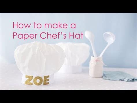 Topi Koki Kertas Paper Chef Hat how to make a chef hat diy doovi