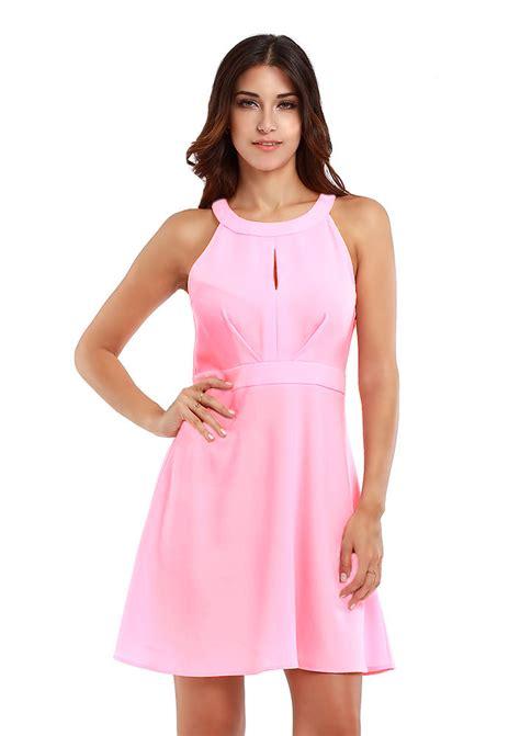 Mini Dress Casual solid zipper sleeveless casual mini dress fairyseason