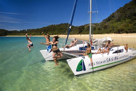 catamaran charter nelson scenic sailing in new zealand s stunning abel tasman