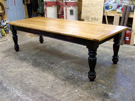 Black Farm Table by 9 Ft Farmhouse Table W Cherry Top