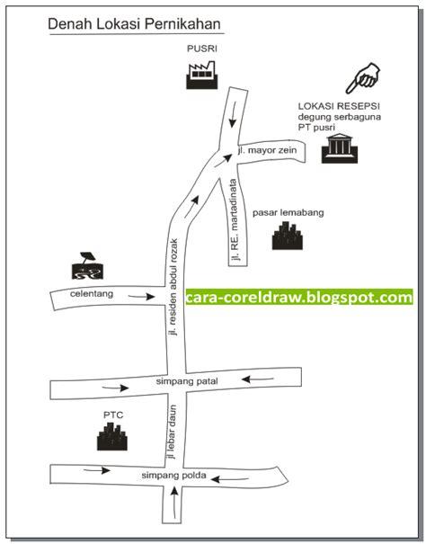 Membuat Denah Lokasi Undangan Dengan Corel Draw | cara membuat denah lokasi dengan corel coreldraw