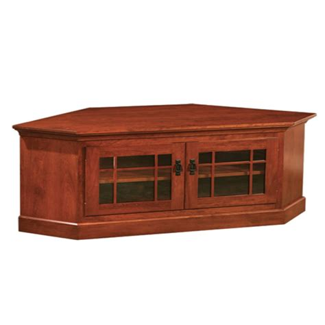 console with glass doors mission corner tv console with glass doors ces42 amish