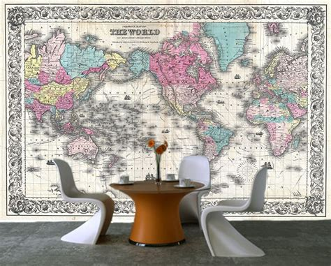 Wall Murals Cheap Peel Stick Self Adhesive Ancient World Map Decorating Photo Wall
