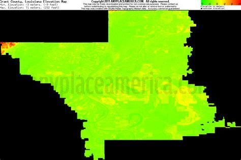 south louisiana elevation map free grant parish louisiana topo maps elevations
