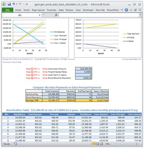 Loan Excel Spreadsheet by Archives Visabackup