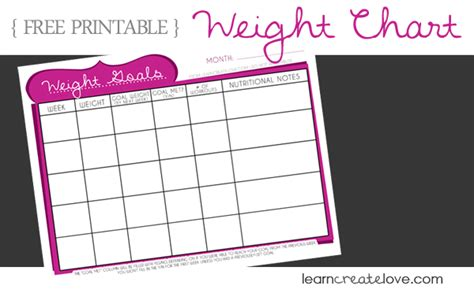 printable weight graphs printable weight chart