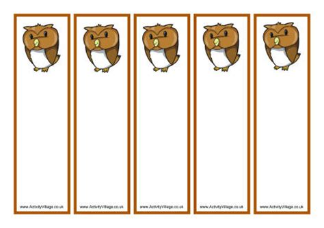 printable owl bookmarks bookmark printable images gallery category page 8