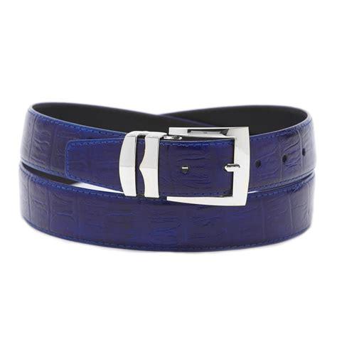 s bonded leather belt in solid colors hornback pattern