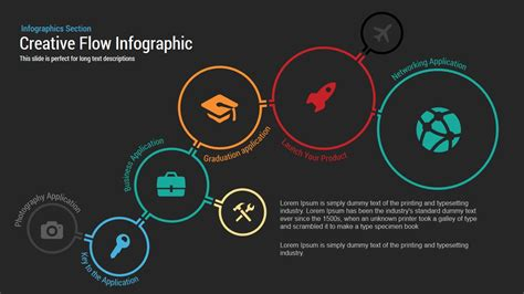 creative flow infographic powerpoint template slidebazaar