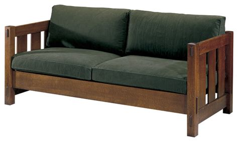 wood frame sofa with loose cushions stickley loose cushion settle 89 208 lc