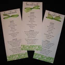 Damask bow wedding programs your by invitationsbyemily