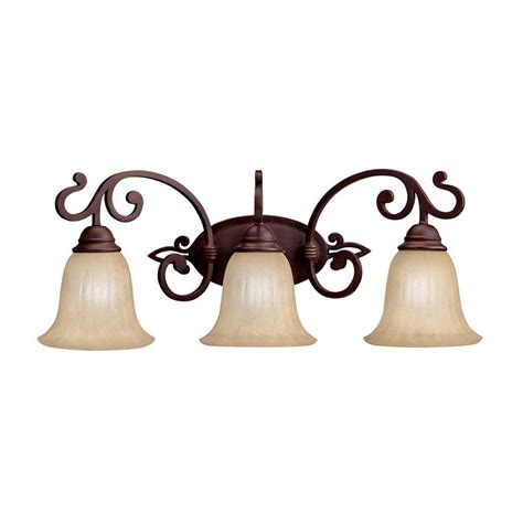 Traditional Vanity Lights Shop Kichler Wilton 3 Light 10 25 In Carre Bronze Bell Vanity Light At Lowes